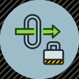 gate, gateway, lock, password, secure, traffic, way icon