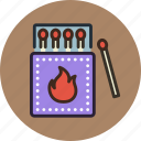 fire, matches, outdoor, wild icon