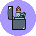 fire, flame, lighter icon