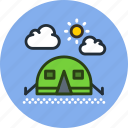 camp, camping, outdoor, tent, travel, wild icon