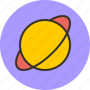 cosmos, planet, saturn, space icon