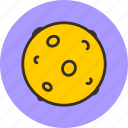 cosmos, moon, planet, space icon
