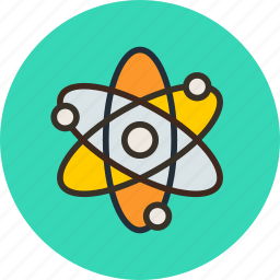 atom, corpuscle, energy, nuclear, physics, science icon