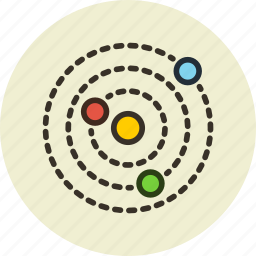 astronomy, galaxy, planets, science, solar, system icon