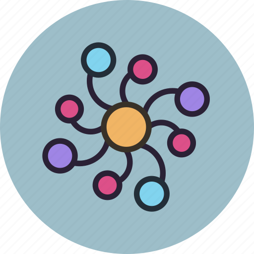 biology, connections, medicine, network, neuron, science icon