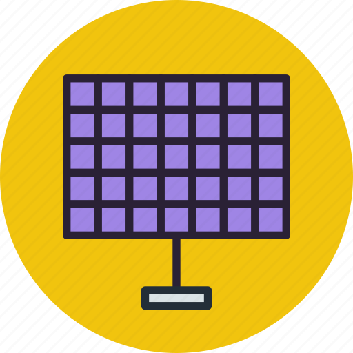 battery, eco, future, generator, panels, science, solar icon