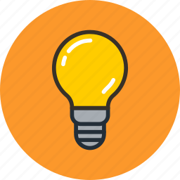 bulb, electric, idea, lamp, light icon