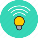 bluetooth, color, hue, idea, lamp, wifi, wireless icon