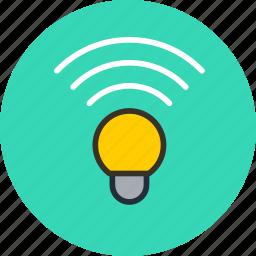 bluetooth, color, hue, idea, lamp, wifi, wireless icon