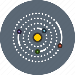 astronomy, galaxy, orbit, planets, science, solar, space icon