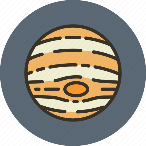 cosmos, jupiter, planet, science, solar, space, system icon