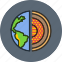 core, earth, planet, science icon