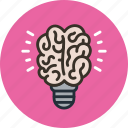 brain, creative, idea icon