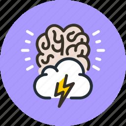 brain, creative, idea, storm icon