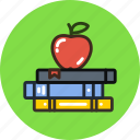 apple, books, education, study icon