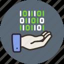 control, data, hand, share