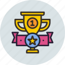 achievement, award, cup, prize, sport, top, trophy icon