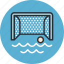 ball, game, gate, polo, sport, water icon