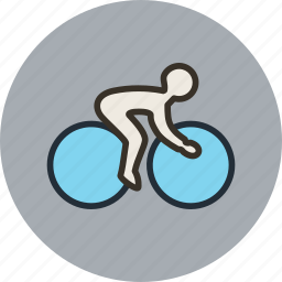 bicycle, bicyclist, bike, cycling, speed, sport icon
