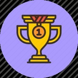 achievement, award, cup, prize, sport, trophy, win icon