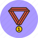 achievement, award, champion, medal, prize, trophy, win icon