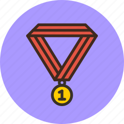 achievement, award, champion, medal, prize, trophy, win icon