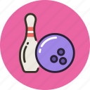 ball, bowling, game, skittle, sport