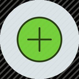 add, circle, more, open, plus icon