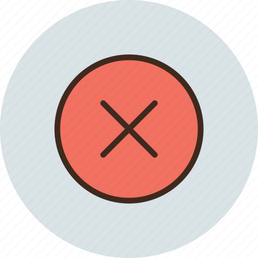 circle, close, cross, delete, hide icon