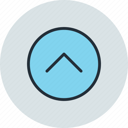 arrow, circle, home, prev, previous, top, up icon