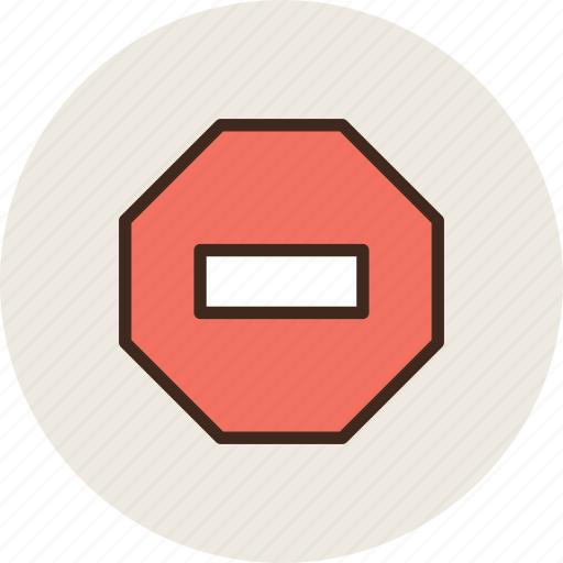 ban, denied, octagon, prohibition, sign, stop icon