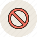 embargo, prohibition, sign, crossed, ban, circle