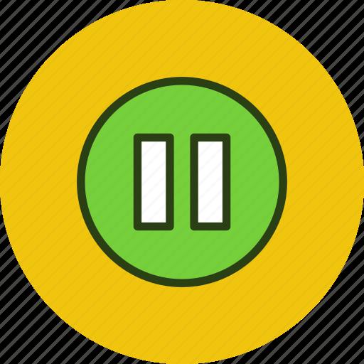 circle, pause, player, twix icon