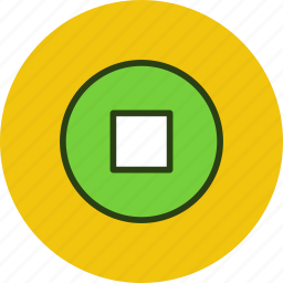 circle, player, sign, square, stop icon