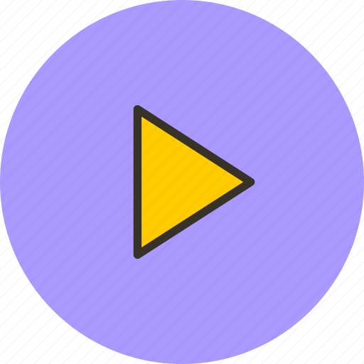 play, player, sign, start, triangle icon