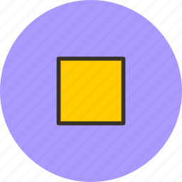 player, sign, square, stop icon