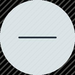 close, delete, minus, substract icon