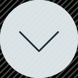 arrow, bottom, down, end, next icon
