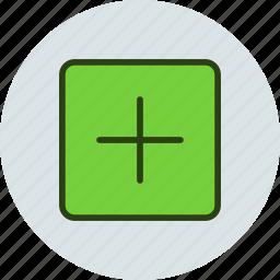 add, addition, cross, more, open, plus, square icon