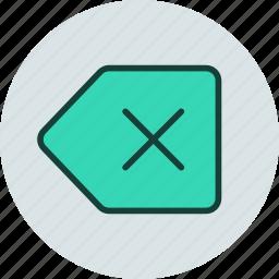 backspace, clear, delete, undo icon