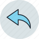 arrow, back, previous, undo icon