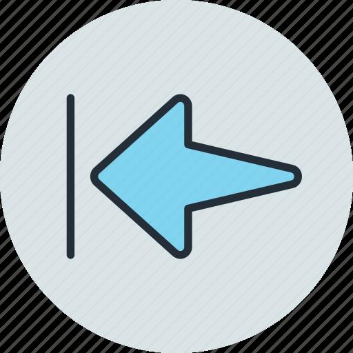 arrow, home, left, rewind, start icon