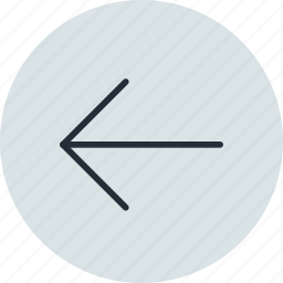 arrow, back, backward, left, prev, previous icon
