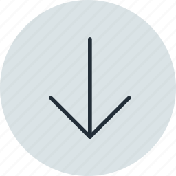 arrow, bottom, down, fall icon