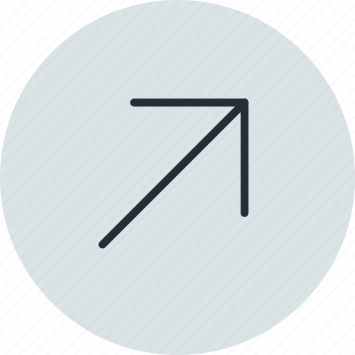 arrow, diagonal, east, north, right, up icon