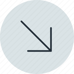 arrow, diagonal, east, right, south, up icon