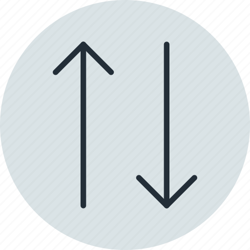 arrow, change, down, scale, upside icon