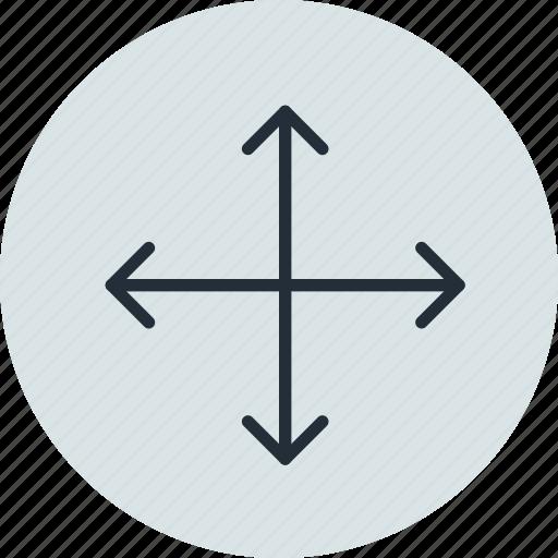 arrow, move, scale, transform icon