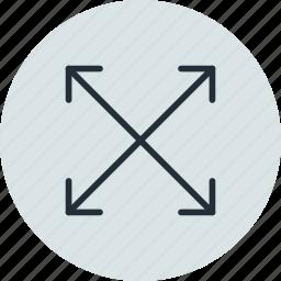 arrow, fullscreen, scale, zoom icon