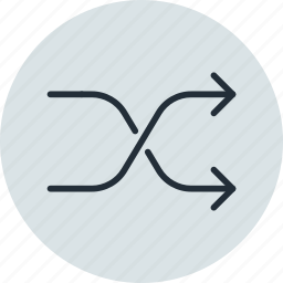 arrow, mode, play, random, shuffle, sign icon